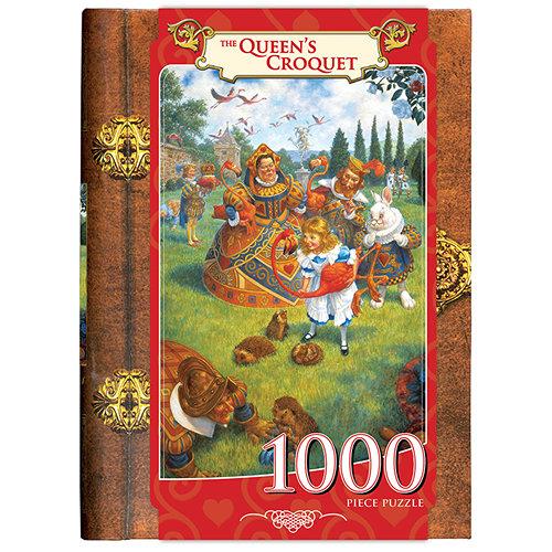 Queens Croquet 1000 Piece Book Puzzle
