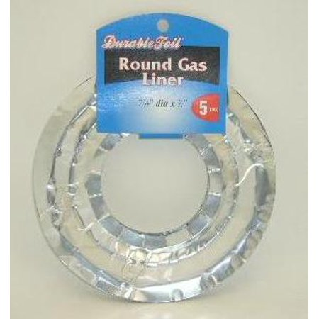 New 806827  D. Foil Gas Liners Round 5Pc (12-Pack) Gas Liner Cheap Wholesale Discount Bulk Kitchenware Gas Liner