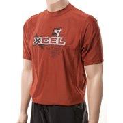XCel Mens Shortsleeve Ventx UV25+ Sun Shirt: Swim & Workout Tee (Brushed Icon)