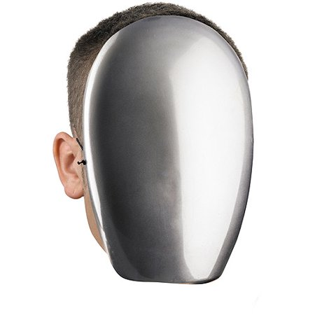 No Face Chrome Mask Adult Halloween Accessory](Cheap Plastic Halloween Masks)