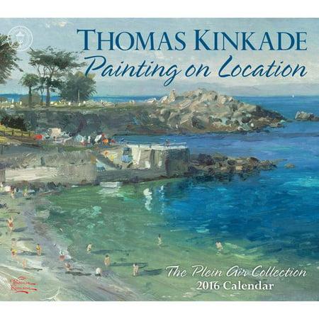 Thomas Kinkade Painting on Location 2016 Calendar