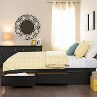 Kingfisher Lane Black Full Platform Storage Bed with 6 Drawers