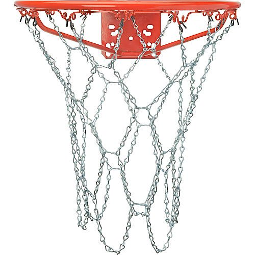 Crown Sporting Goods Outdoor Galvanized Steel Chain Basketball Net