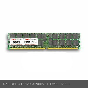 DIMM Single Rank DMS Data Memory Systems Replacement for Dell A6988951 Precision Fixed Workstation 670 2GB DMS Certified Memory DDR2-400 256x72 CL3 1.8v 240 Pin ECC//Reg DMS PC2-3200