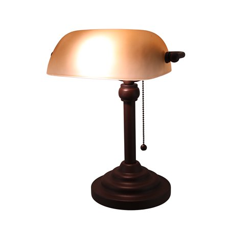 ... Led Desk Lamp Walmart by Antique Bronze Finish Banker S Lamp W Amber  Glass Shade ... - 15+ [ Led Desk Lamp Walmart ] Pleasing Battery Operated Table