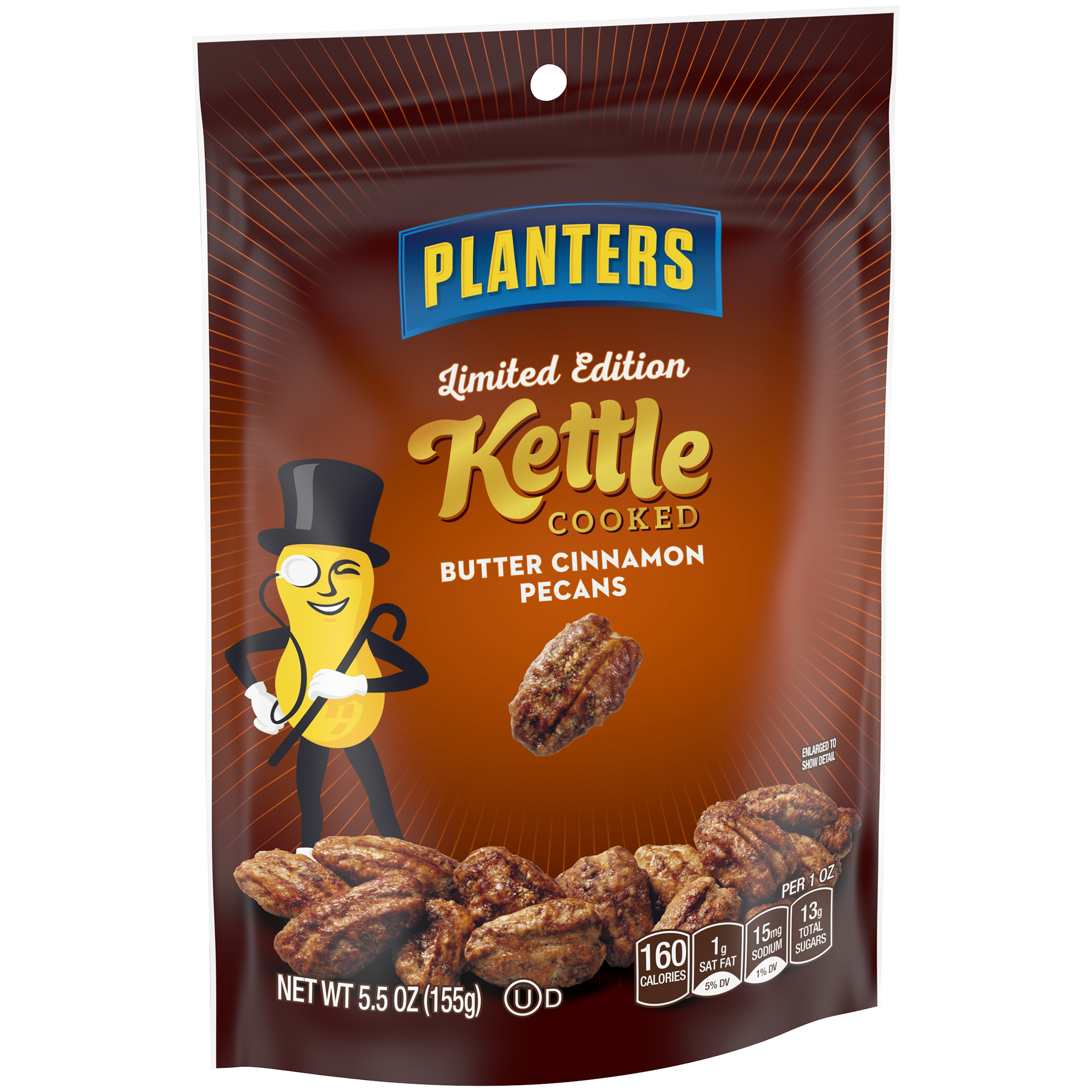 Planters Limited Edition Kettle Cooked Butter Cinnamon Pecans 5 5