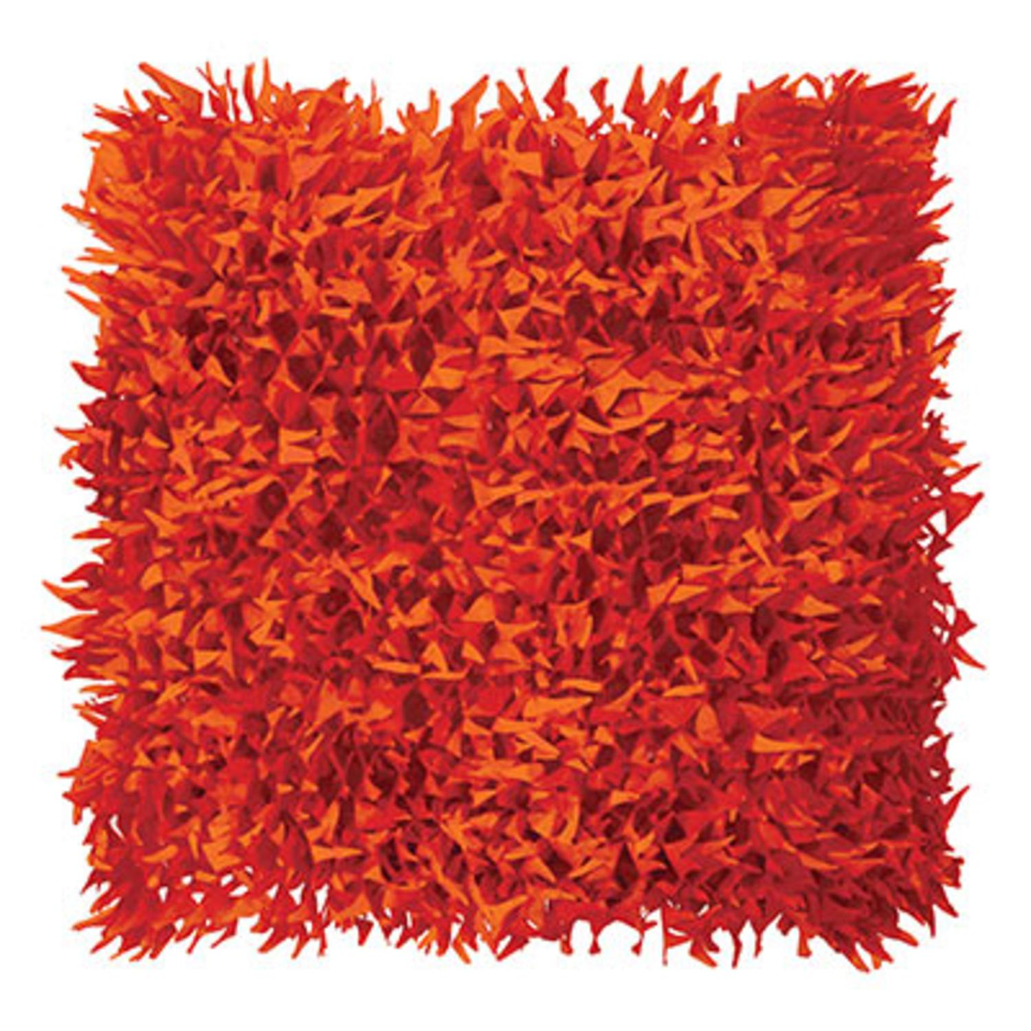 """Club Pack of 24 Orangish-Red Flame Halloween Tissue Grass Mats 15"""" x 30"""""""