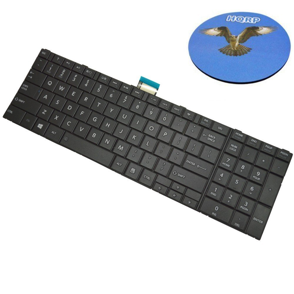HQRP Laptop Keyboard Compatible with Gateway NV50A NV59A Notebook Replacement Plus HQRP Coaster NV55C NV53A