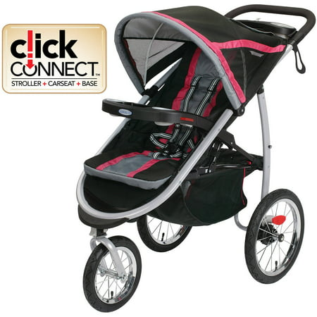 Graco FastAction Fold Jogger Click Connect Jogging Stroller Azalea