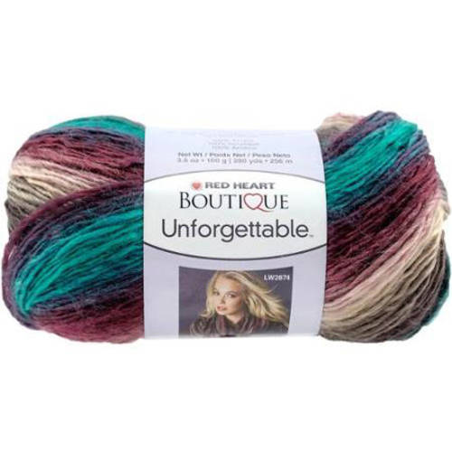 Red Heart Boutique Unforgettable Yarn, Available in Multiple Colors