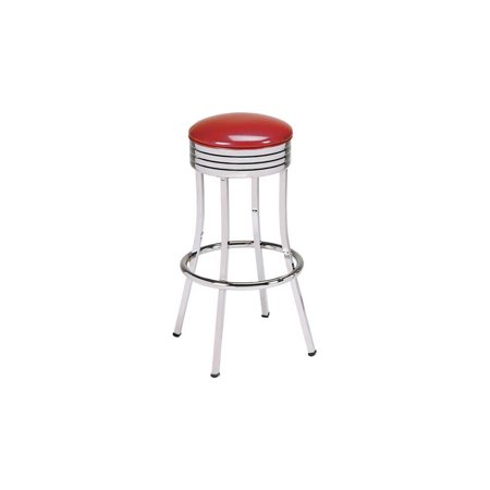Awesome Classic Retro Chrome Bar Stools 24 In Red Wine Machost Co Dining Chair Design Ideas Machostcouk