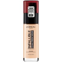 L'Oreal Paris Infallible 24 Hour Fresh Wear Foundation, Lightweight, Ivory, 1 oz.