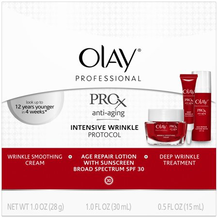 Olay  Professional Prox Anti Aging Intensive Wrinkle Protocol Kit 3 Pc Box
