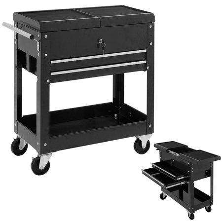 Costway Rolling Mechanics Tool Cart Slide Top Utility Storage Cabinet Organizer 2 Drawer 5 Drawer Rolling Tool