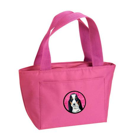 Pink Basset Hound Lunch Bag or Doggie Bag LH9374PK