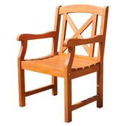 Malibu Eco-friendly Outdoor Wooden Garden Arm Chair