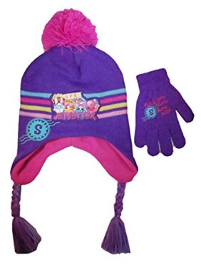 309d51f913a Product Image Shopkins Girls Scandinavian Acrylic Laplander Winter Hat and  Glove Set - Size Girls 4-14