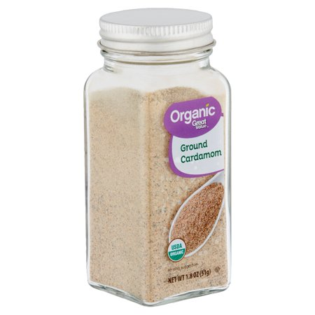 - Great Value Organic Ground Cardamom, 1.8 oz