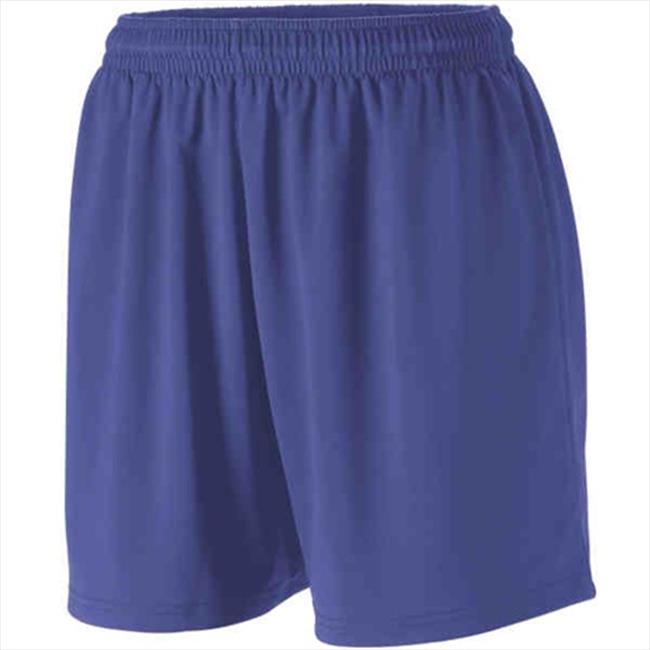 Augusta 1216A Girls Polyester Spandex Short - Silver, Small