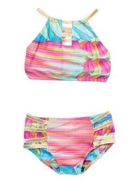 1fb91b2c8fc7 Product Image Azul Little Girls Multi Color Good As Gold High Top Bikini 2  Pc Swimsuit