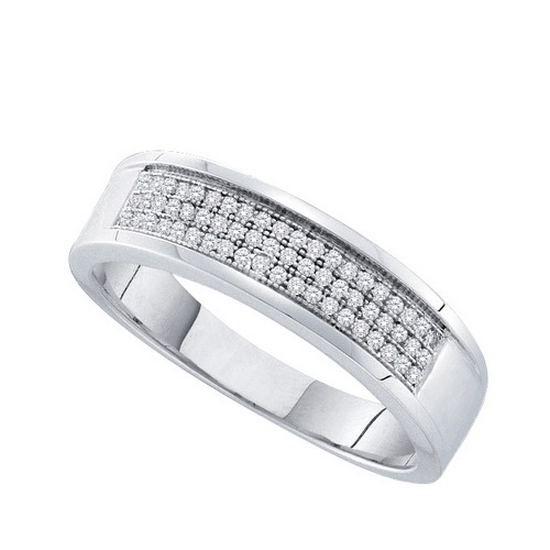 Sterling Silver White 0.20ctw Elegant Diamond Micro Pave ...
