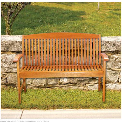 Achla Designs 4' Classic Slat Bench