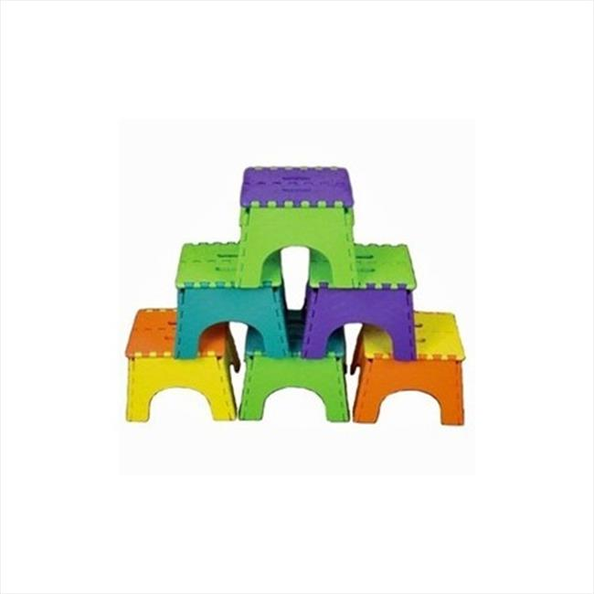 B&R PLASTICS 1016TT Foldz Step Stool With Two-Tone, 9 In. Pack of 6 by B&R Plastics