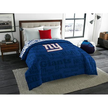 New York Giants NFL Full Comforter (Anthem) (76 x 86) by