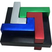 Quad L - Brainteaser Metal Puzzle