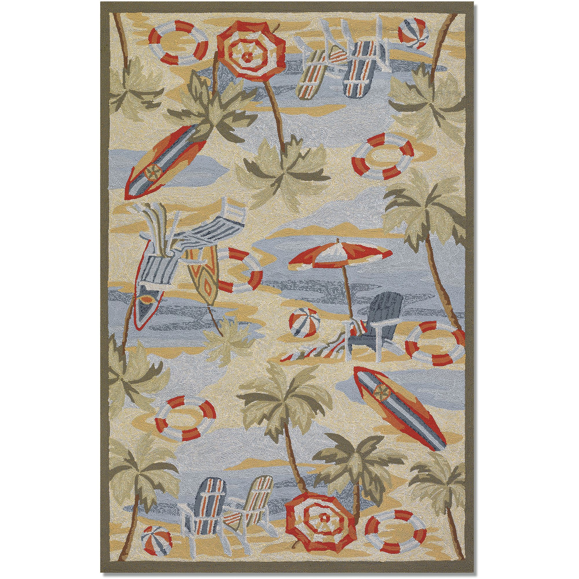Couristan Outdoor Escape Cocoa Beach Rug, Sand