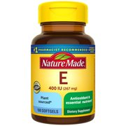 Nature Made Plant Sourced Vitamin E 267 mg (400 IU) d-Alpha Softgels, 100 Count for Antioxidant Support