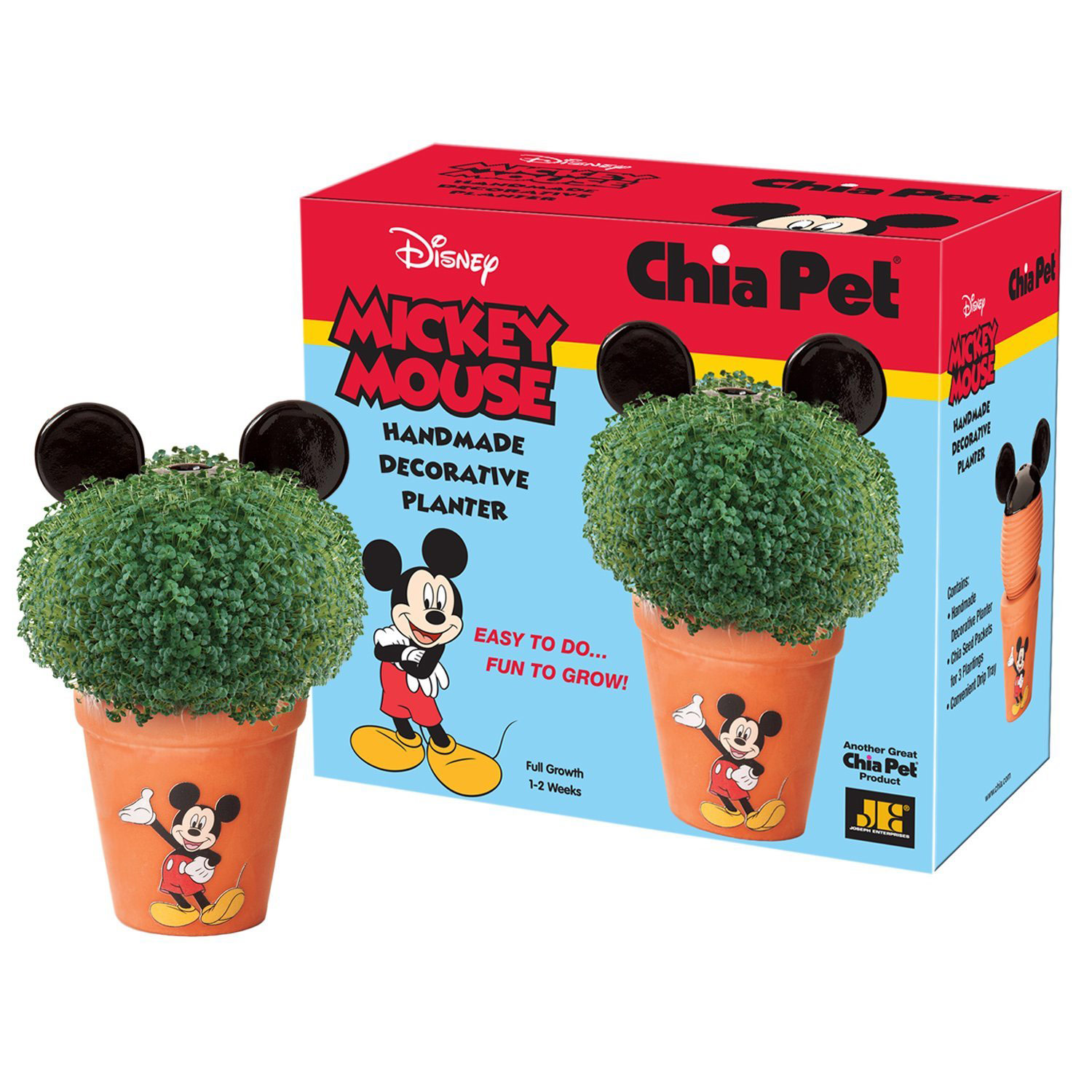 Mickey Mouse Chia Pet Handmade Decorative Planter Easy To Grow