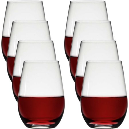 Stolzle (8 Pack) Stemless Wine Glasses 23oz Lead Free European Crystal Red Wine Glasses Bulk Set Dishwasher Safe Barware