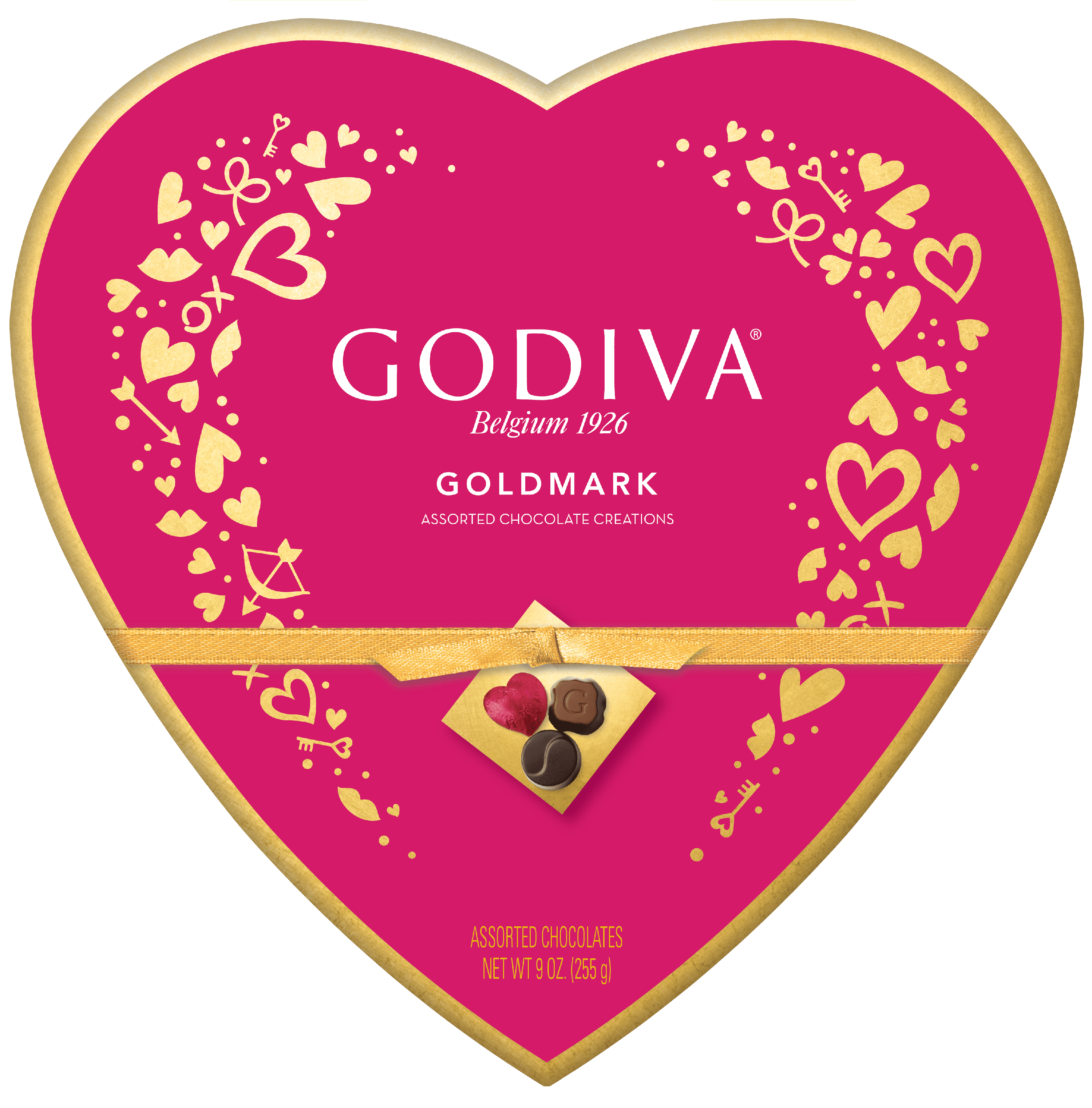 Godiva Valentine S Day Goldmark Assorted Chocolate Heart Box 24 Pieces 9 Oz Walmart Com Walmart Com