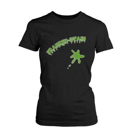 Franken-stain Halloween Women's Shirt Funny Graphic Black Tee for Horror Night  Funny Shirt - Halloween Horror Night Prices