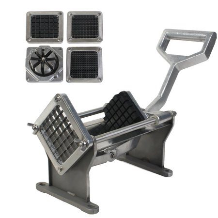 Commercial French Fry Cutter (Potato French Fry Fruit Vegetable Cutter Slicer Quality W 4 Blades Commercial)