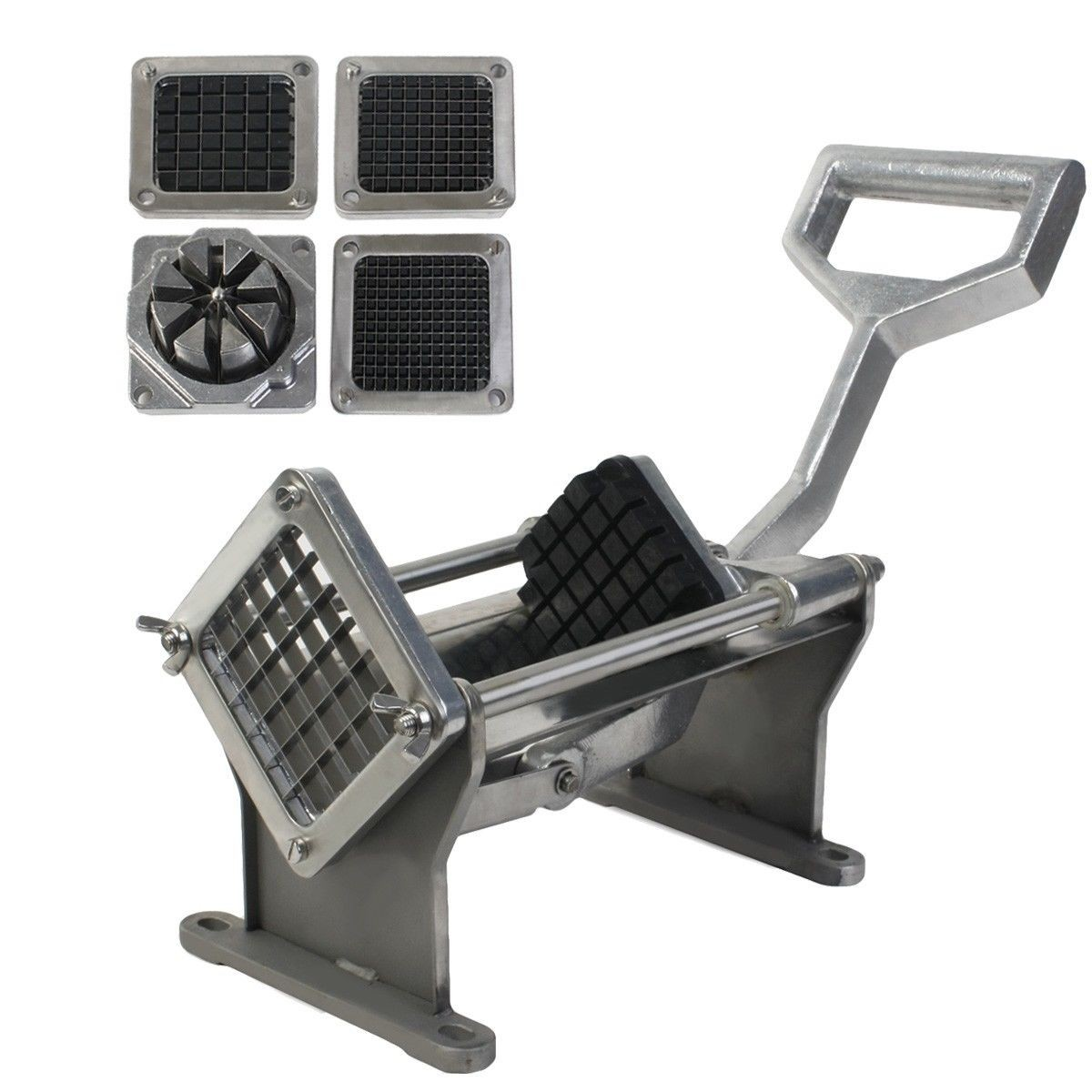 Potato French Fry Fruit Vegetable Cutter Slicer Quality W 4 Blades Commercial