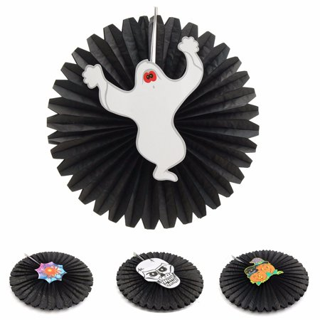 Halloween Paper Fan Wall Hanging Decoration Party Home Decor Gifts ...