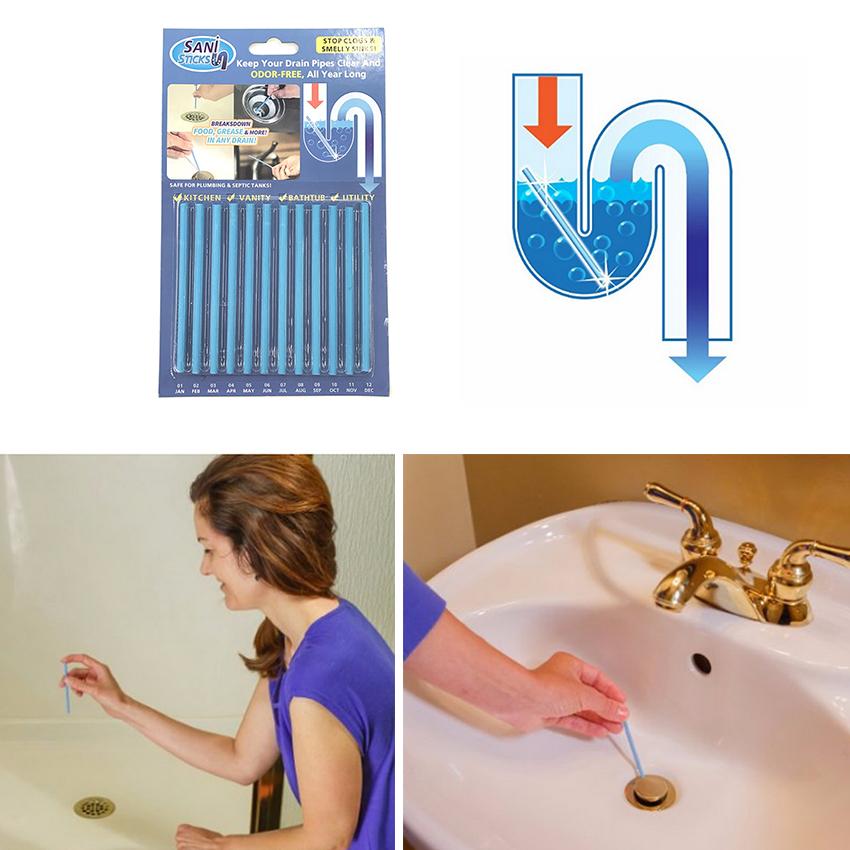 Pipeline Kitchen Toilet Bathtub Rod Sink Intl Sani Sticks 12 Pcs Drain Cleaner Sink Deodorant Stick