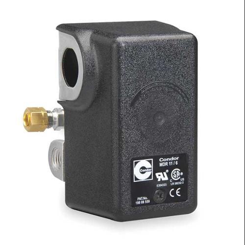 CONDOR USA, INC 11ECXE Pressure Switch, DPST, 80/100 psi