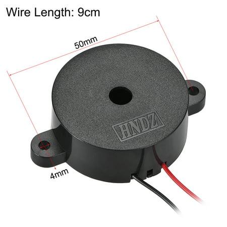 5Pcs DC 12V Active Electronic Buzzer Alarm Sounder Continuous Sound Beep Speaker - image 2 de 3