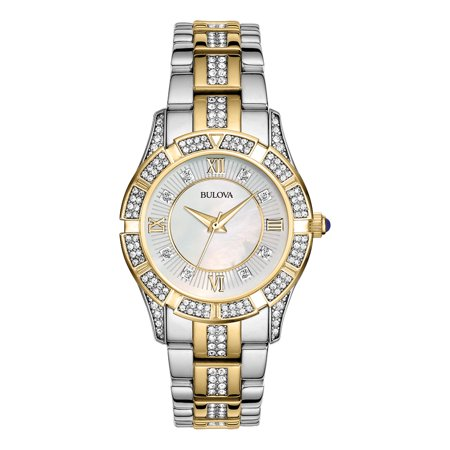 Bulova Women's Two Tone Stainless Steel Bracelet Watch (ladies bulova watches on sale)
