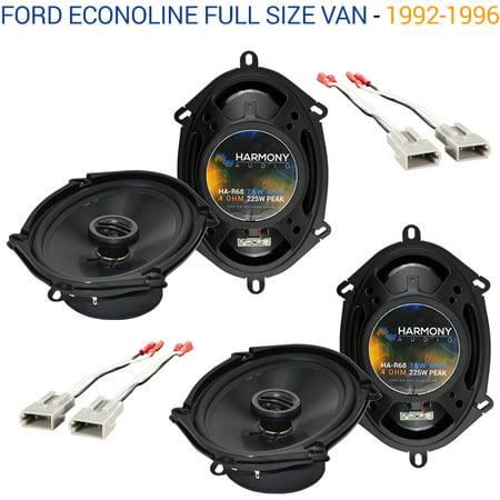 Ford Econoline Full Size Van 1992-1996 OEM Speaker Upgrade Harmony (2) R68