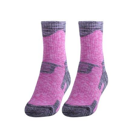 R-BAO Authorized Women Running Stockings Biking Cycling Socks Rose Pink M Pair