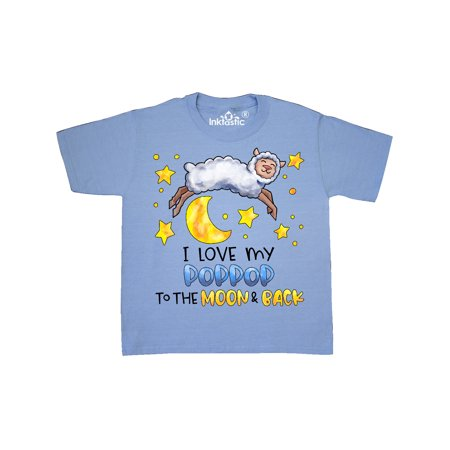 I Love my Poppop to the Moon and Back Cute Sheep Youth T-Shirt