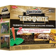 Spectracide 96115-1 Terminate Termite Detection & Killing Stakes, 15-Count, 6-Pack, Case Pack of 6