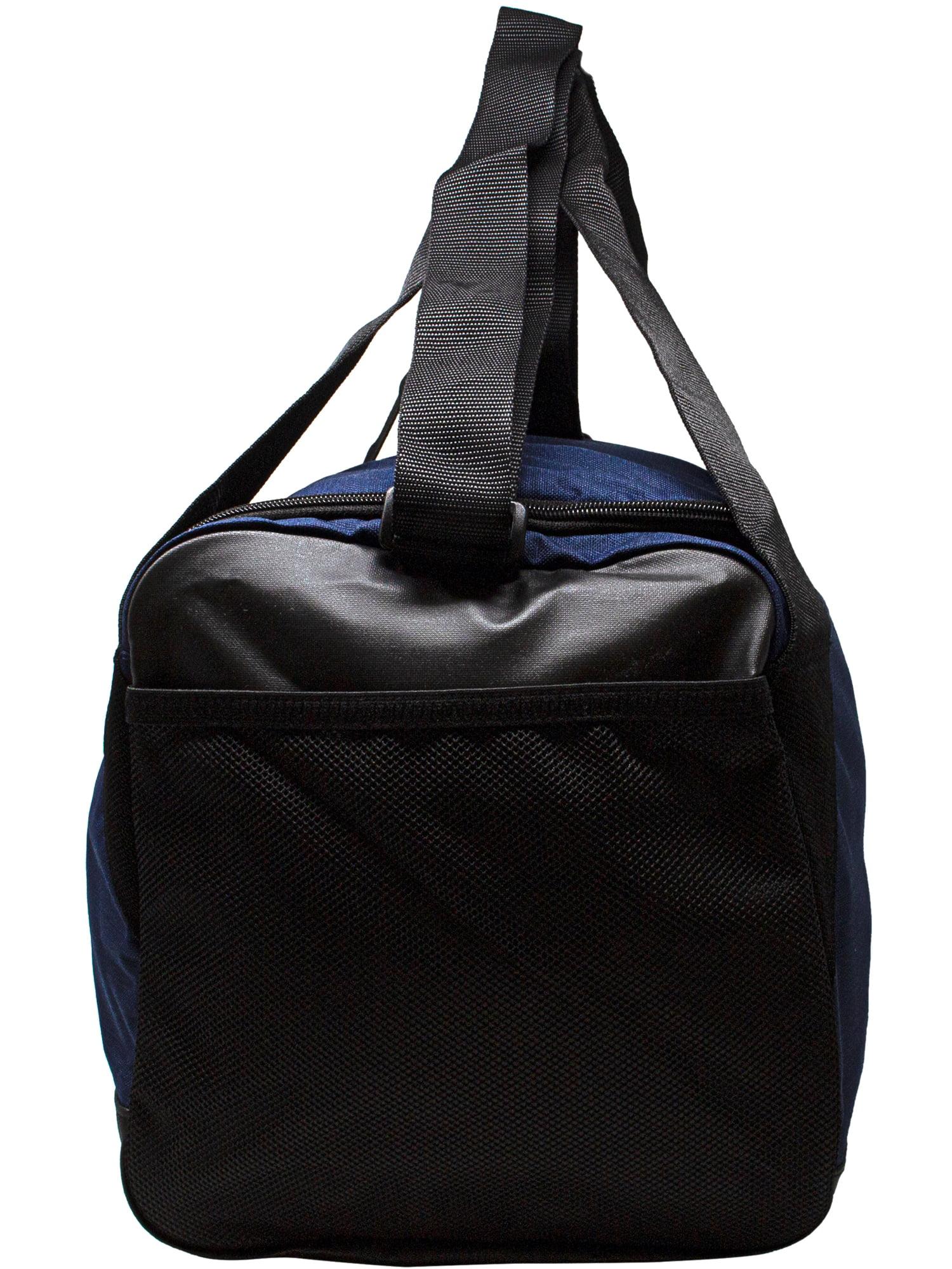 9859f5f34b2d Nike - Nike Brasilia Small Duffel Polyester Duffle Bag Hobo - Midnight Navy    Black White - Walmart.com