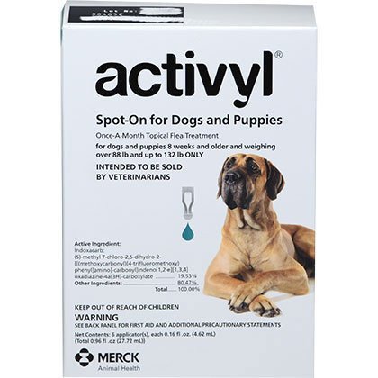 Intervet Activyl for Dogs - 6 Month Supply (88-132 lbs)