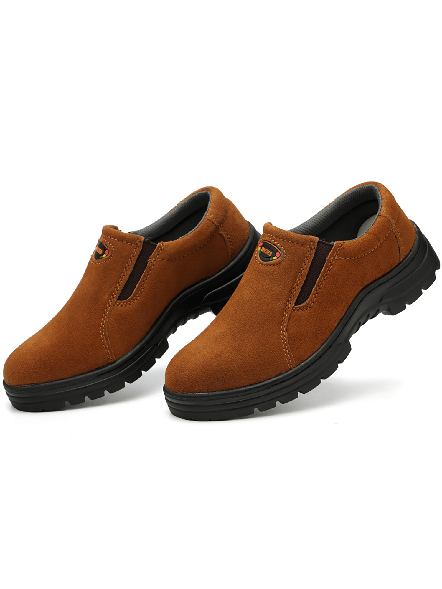 Daeful Mens Leather Ankle Safety Boots Lace Up Steel Toe Cap Work Boots Hiker Shoes