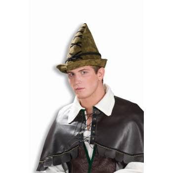 DELUXE ROBIN HOOD HAT-BROWN](Robin Hats)